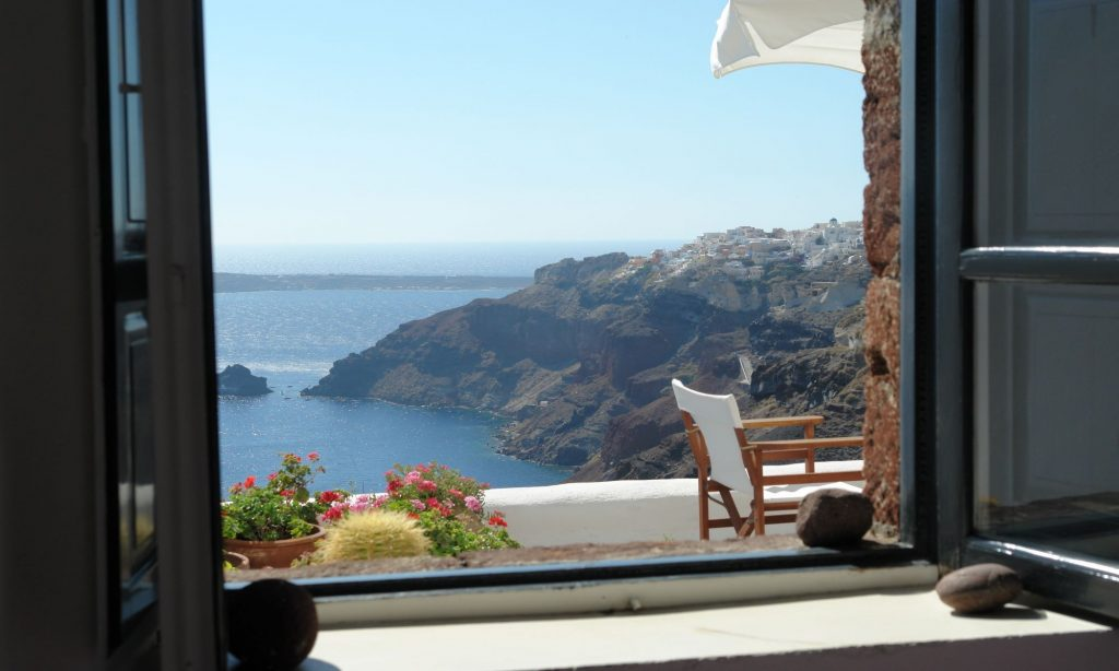 Santorini Agean sea