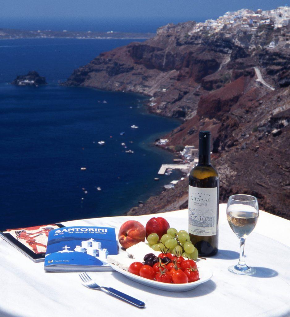 Santorini overview wine tasting