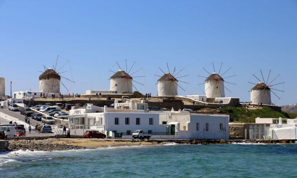 Mykonos windmills overview