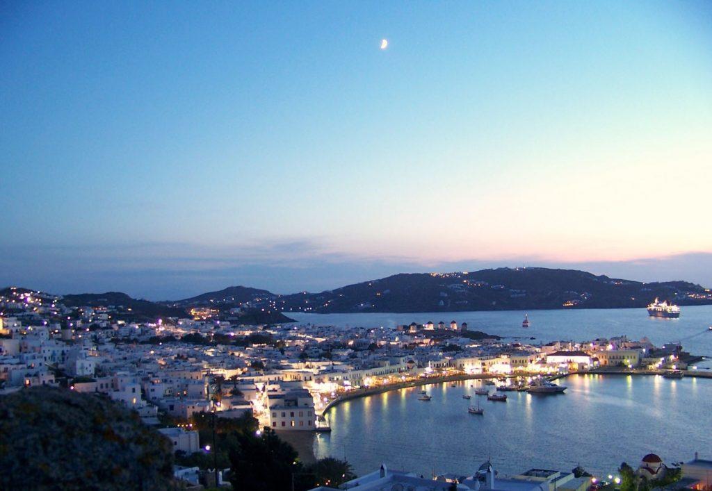 Mykonos Greek Island Chora town